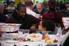 father and daughter at MLK Day community lunch