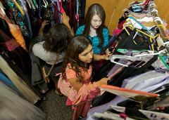 Teens shopping at RCC's Diva Central