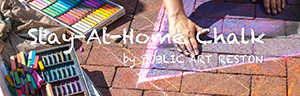 Stay-at-Home Chalk Art